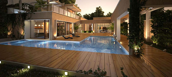 Piso de madera para exterior deckora m xico for Pisos terrazas rusticas