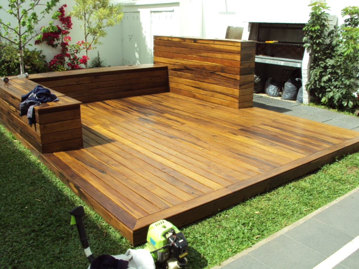 Deckora m xico pisos de madera decks pisos en for Jardin con madera